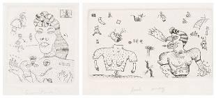 Jim Nutt, (American, b. 1938), Gruntsies, 1968 and Look