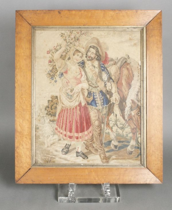 An English Needlework Picture, Height 20 1/2 x width 16