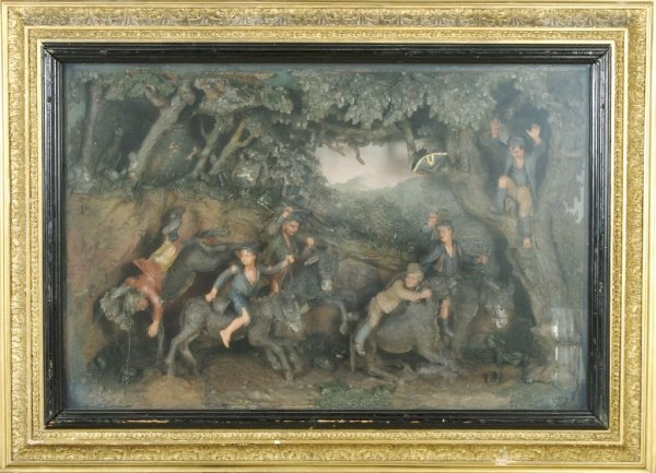 An English Wax Diorama, Attributed to Samuel Percy, Hei