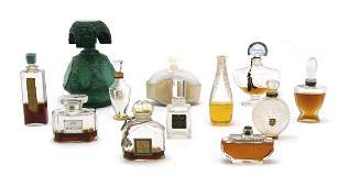 A Group of Twenty-Four Perfume Bottles, Height of first