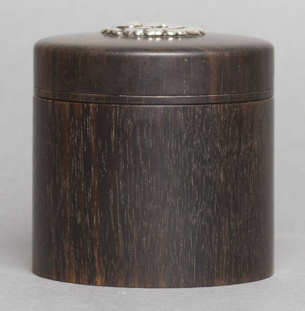 An Art Deco Silver Mounted Rosewood Box, Height 2 1/2 i