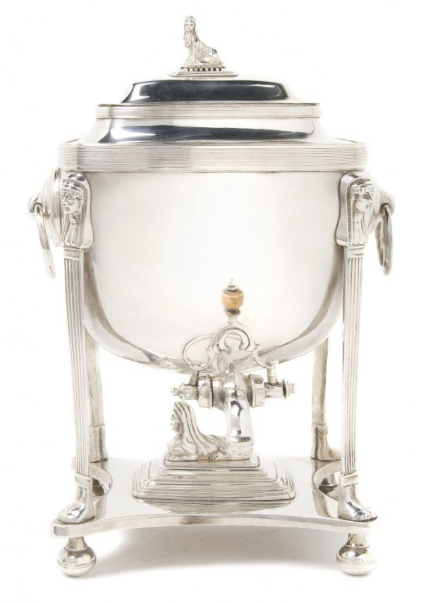 An English Silverplate Kettle on Stand, Height 16 1/4 i