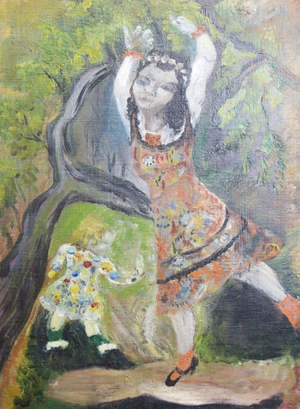 Rifka Angel, (American, 1899-1972), Two Girls, circa 19