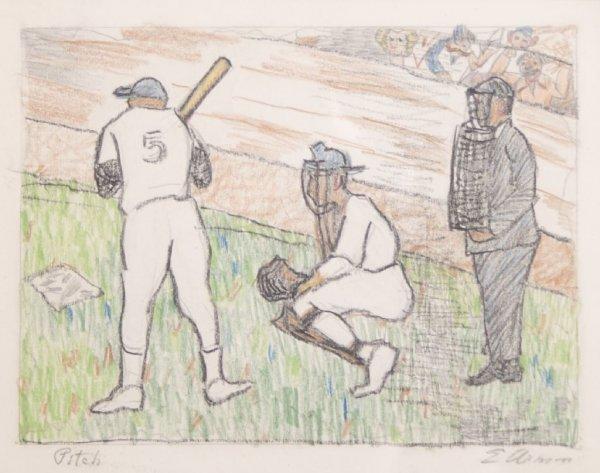 Emil Armin, (American, 1883-1971), Pitch, circa 1935-40
