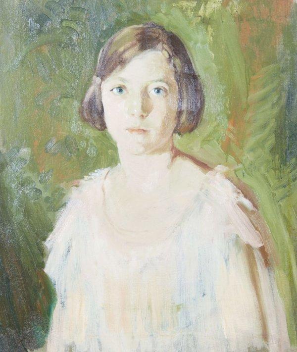 Ruth H. Bohan, (American, 1891-1981), Girl in White Dre