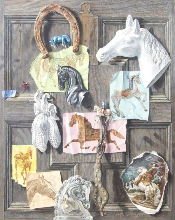 Aaron Bohrod, (American, 1907-1992), Anatomy of a Horse