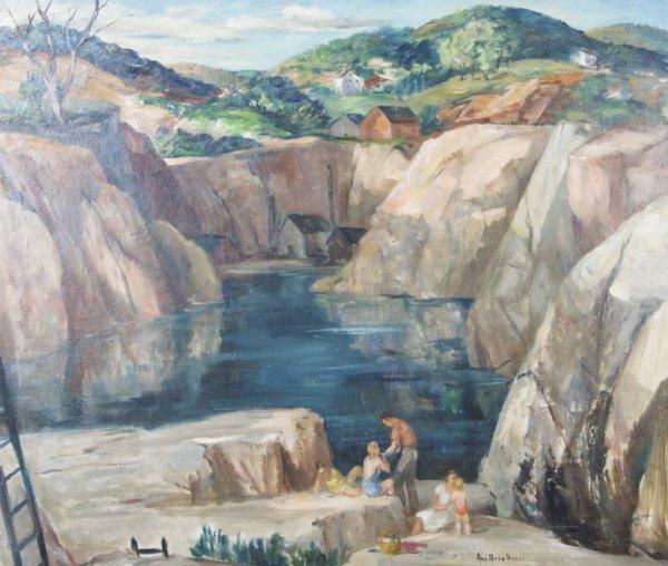 Ann Brockman, (American, 1899-1943), Quarry Sunset, cir