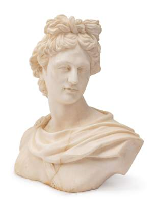 An Italian Marble Bust of Apollo