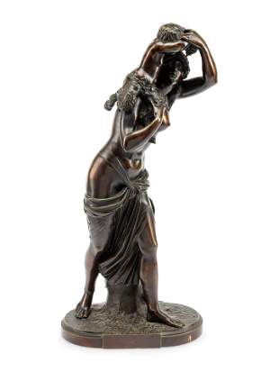 A Continental Bronze Figural Group