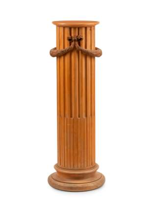 A Continental Carved Wood Pedestal