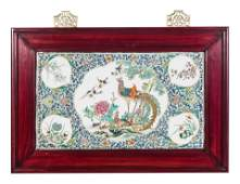A Chinese Export Enameled Porcelain Plaque