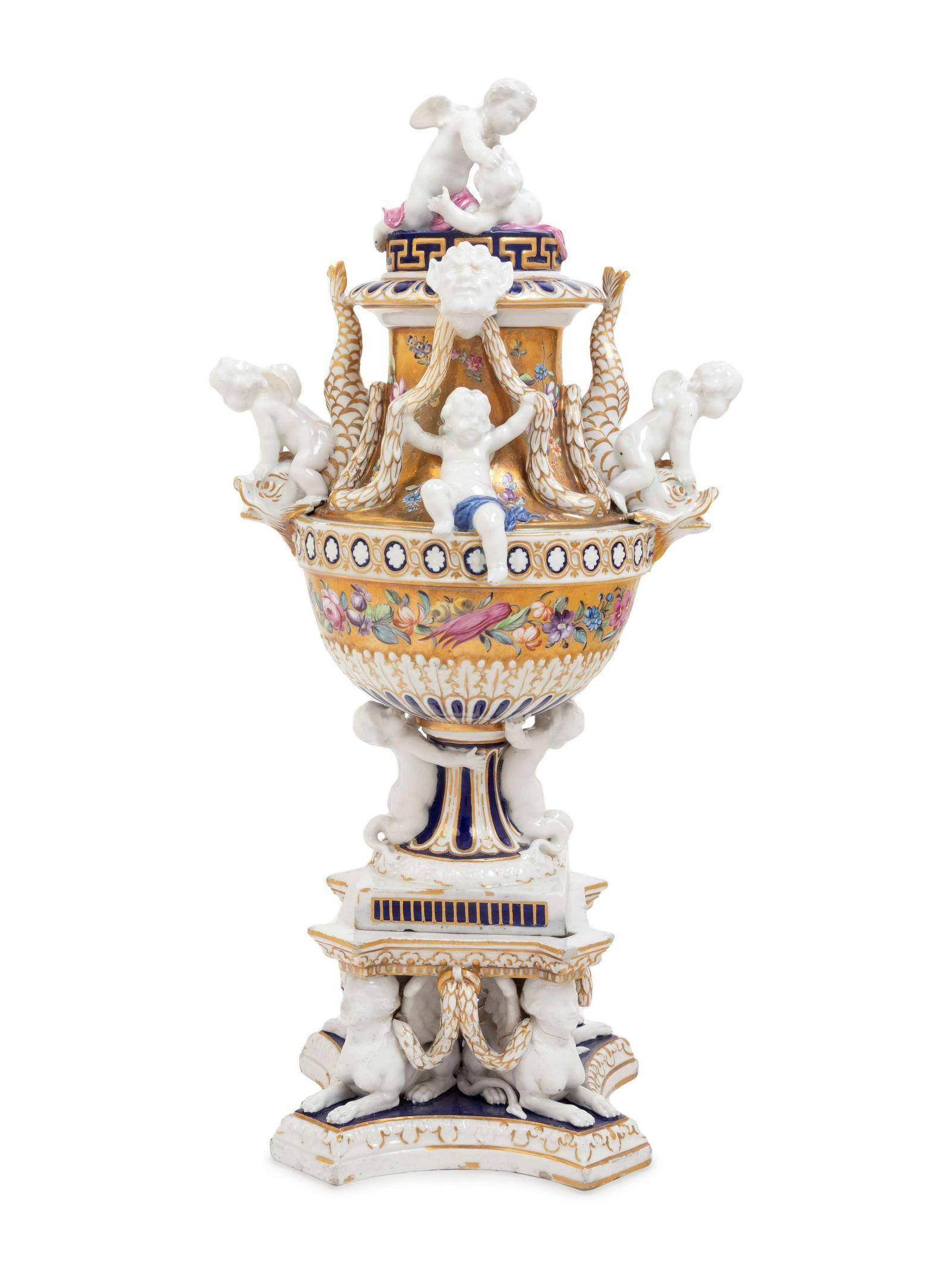 A Derby Porcelain Centerpiece