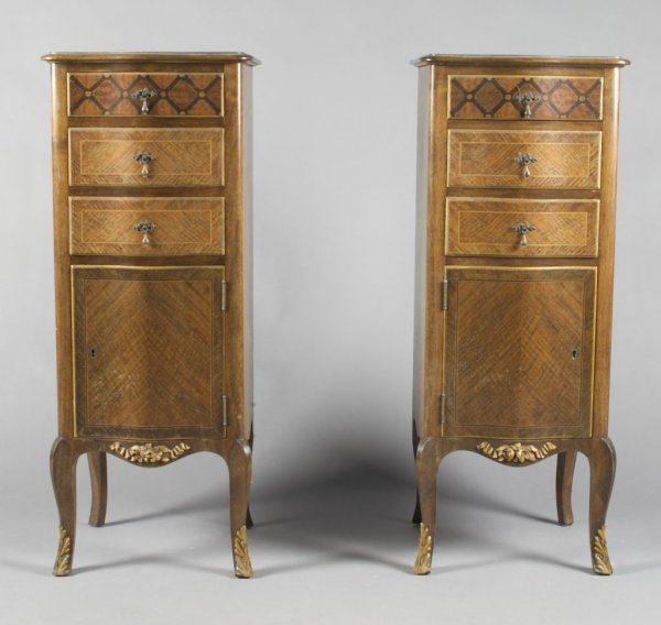 3: A Pair of Louis XVI Style Cabinets, Height 36 x widt