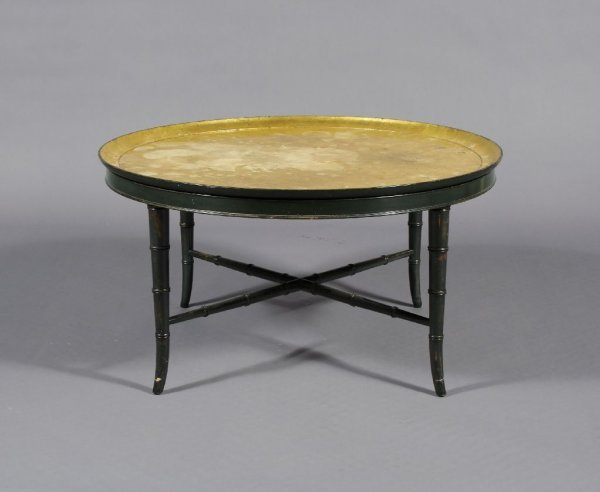 5: A Faux Bamboo Low Table, Kittinger, Height 19 inches