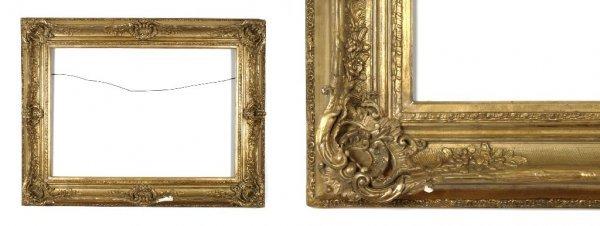 A European, 19th Century Frame. sight size: 25 x 35 1/2