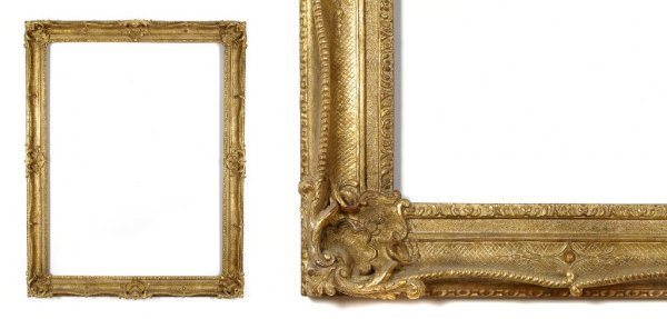 A European, 19th Century Frame. sight size: 45 3/4 x 34