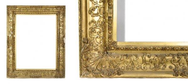 A European, 19th Century Frame. sight size: 35 x 47 1/2