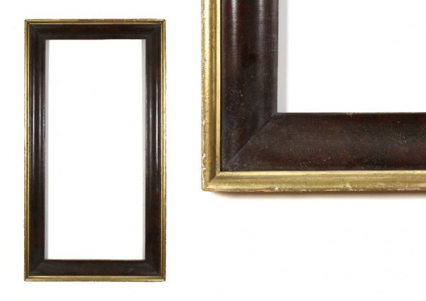 A European, 19th Century Frame. sight size: 19 1/2 x 44