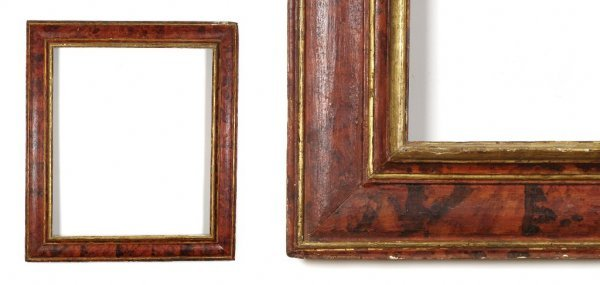 A European, 19th Century Frame. sight size: 35 3/8 x 29