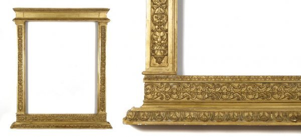 A European, 19th Century Tabernacle Frame. sight size:
