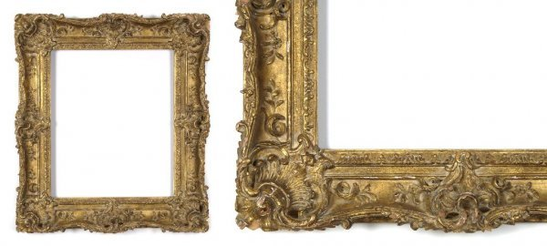 A French, 18th Century Frame. sight size: 17 3/4 x 14 3
