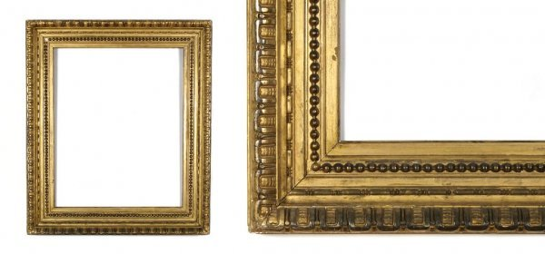 An American, 1900 Frame. sight size: 10 3/4 x 13 x 4 5/