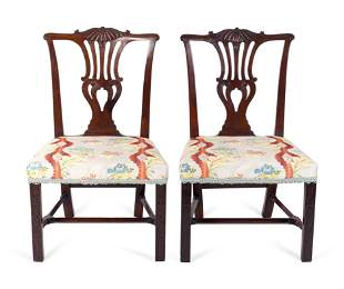 A Pair of George III Mahogany Side Chairs Height