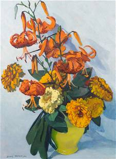 Jane Peterson (American, 1876-1965) Tiger Lilies and