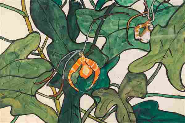 Jane Peterson (American, 1876-1965) Spider Orchids