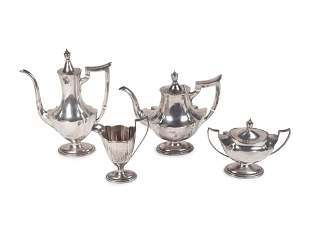 An American Silver Four-Piece Tea and Coffee Service