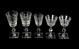 A Hawkes Cut-Glass Part Stemware Service Height of