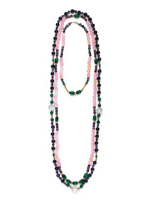 COLLECTION OF GEMSTONE BEAD NECKLACES