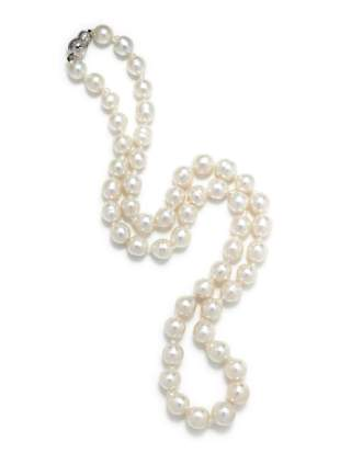 CULTURED SOUTH SEA BAROQUE PEARL NECKLACE