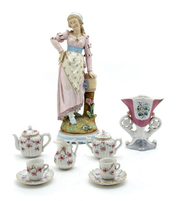 A Collection of Porcelain Articles, Height of first 15