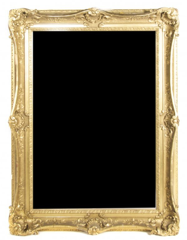 A Victorian Giltwood Pier Mirror, Height 57 x width 43