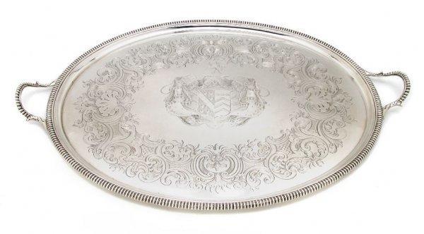 548: A George III Silver Tea Tray, Width over handles 2