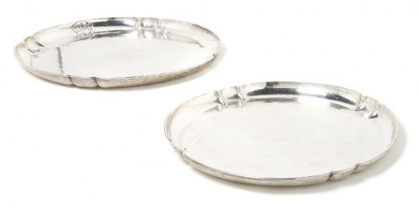 565: A Group of Two American Sterling Silver Trays, F.