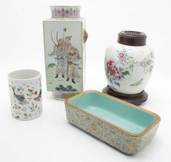 704: A Group of Four Chinese Porcelain Vessels, Height