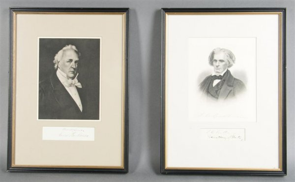 3: BUCHANAN, JAMES. Clipped signature mounted and frame