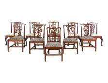 An Assembled Set of Ten George III Style Mahogany