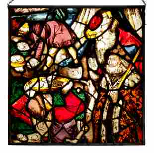 A Continental Stained Glass Window