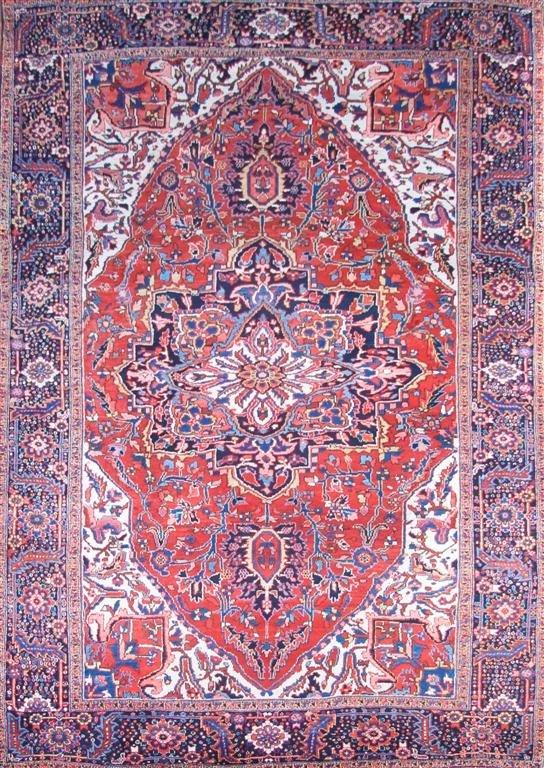 A Heriz Wool Carpet, 12 feet 3 inches x 8 feet 10 inche