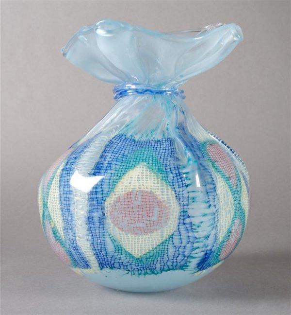 A Kate Vogel and John Littleton Glass Vase, Height 8 3/