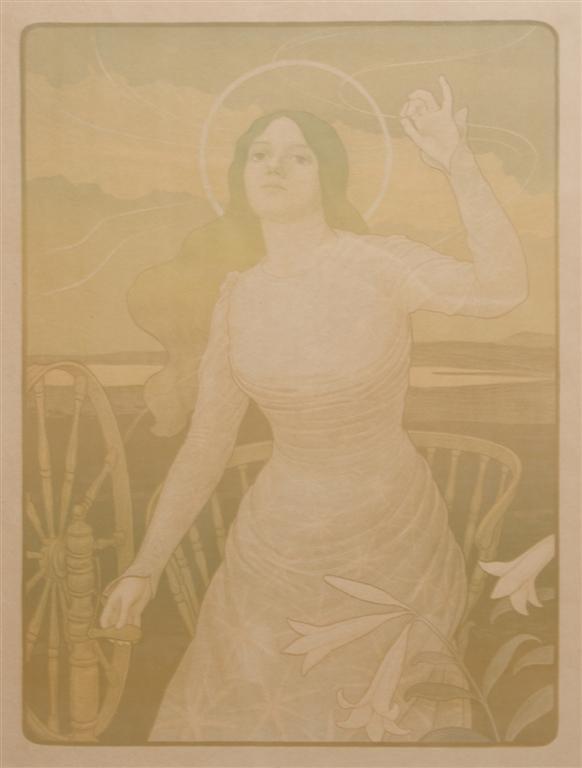 Paul Berthon, (French, 1872-1909), Les fils de la vierg