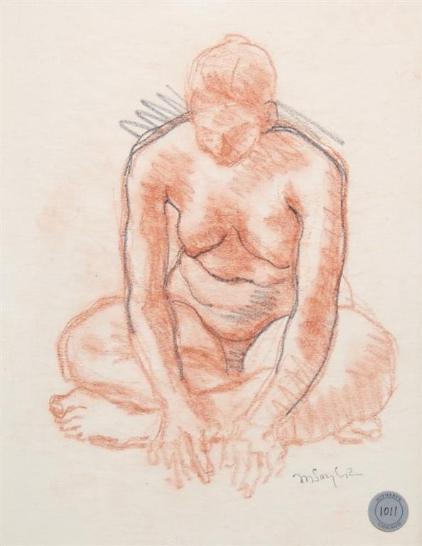 Moses Soyer, (Russian/American, 1899-1974), Nude