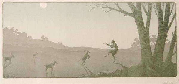 Paul Berthon, (French, 1872-1909), Vision Antique, 1899