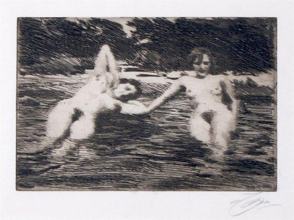 Anders Zorn, (Swedish, 1860-1920), Nudes