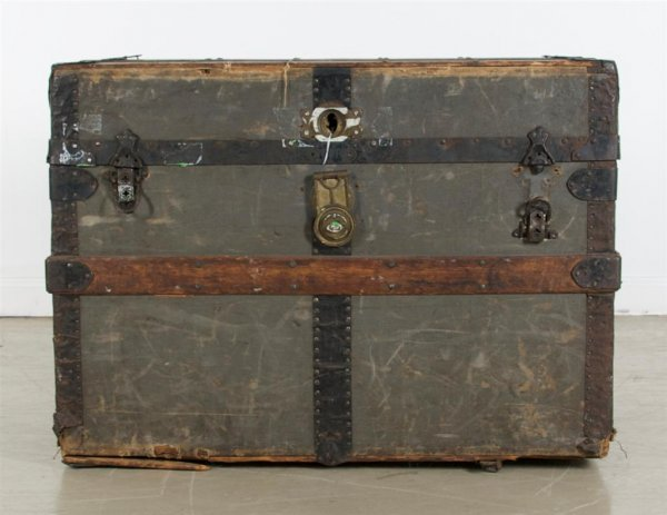 A Travel Trunk, Chas T. Wilt, Chicago, Height 21 3/4 x