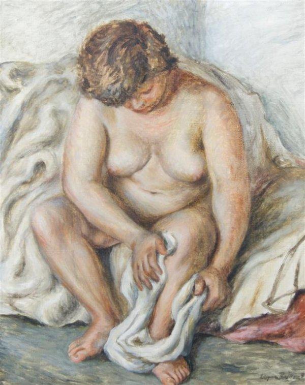 Edgar Britton, (American, 1901-1982), Nude after bath
