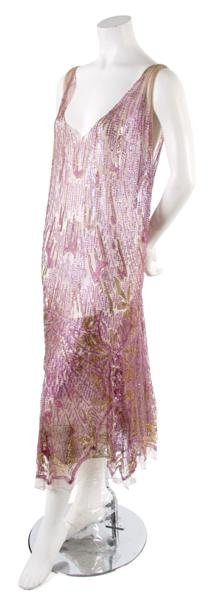 3: A French Couture Tulle and Sequin Evening Dress,